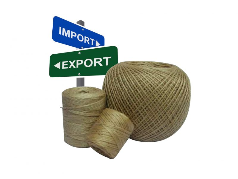 میزان کل واردات و صادرات جوت یک لا در سال 1397
